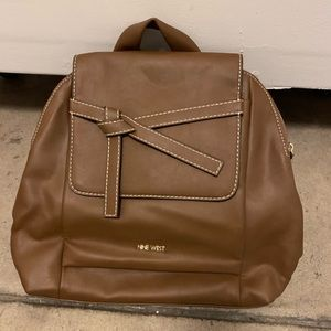 Nine West Tan pleather backpack new never used.